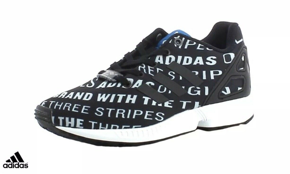 huge discount e7c42 9ba10 adidas Originals ZX Flux Junior Trainers Black   White Brand New Boxed  BB2410